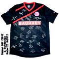 Trikot, Auswärtstrikot, Fortuna Düsseldorf, Saison 2011/12, signiert vom Kader 2011/12, matchworn, Nr. 5, Assani Lukimya, Puma, Bauhaus