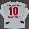 Trikot, Auswärtstrikot, Saison 1999/2000, Fortuna Düsseldorf, matchworn, Nr. 10, Uwe Weidemann, Umbro, Henkel