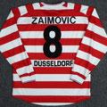 Trikot, Heimtrikot, Saison 2001/2002, Fortuna Düsseldorf, matchworn, Nr. 8, Denan Zaimovic, Umbro, Die Toten Hosen