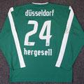 Trikot, Ausweichtrikot, Saison 2007/2008, Fortuna Düsseldorf, matchprepared oder matchworn, Nr. 24, Fabian Hergesell, Puma, Stadtsparkasse Düsseldorf