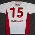 Trikot, Auswärtstrikot, Saison 2005/2006, Fortuna Düsseldorf, matchworn, Nr. 15, Ahmet Cebe, Puma, Stadtsparkasse Düsseldorf
