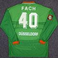 Trikot, Auswärtstrikot, Saison 1996/1997, Fortuna Düsseldorf, matchworn, Nr. 40, Holger Fach, Umbro, Diebels/Diebels Alt