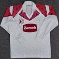 Trikot, Sondertrikot mit schwarzen Sternen, Fanshop, Saison 1989/1990, Fortuna Düsseldorf, Nr. 9, Puma, Zamek