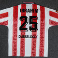 Trikot, Heimtrikot, Saison 1996/1997, Fortuna Düsseldorf, Nr. 25, Dennis Ibrahim, matchworn, Umbro, Diebels