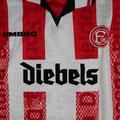 Trikot, Heimtrikot, Saison 1997/1998, Fortuna Düsseldorf, matchworn, Nr. 11, Stefan Trienekens, Umbro, Diebels/Diebels Alt