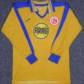 Trikot, Ausweichtrikot, Saison 1980/1981, Fortuna Düsseldorf, matchworn, Nr. 4, Heiner Baltes, Puma, ARAG