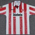 Trikot, Heimtrikot, Saison 1996/1997, Fortuna Düsseldorf, Nr. 2, André Winkhold, matchworn, Umbro, Diebels