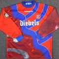 Trikot, Torwarttrikot, Saison 1996/1997, Fortuna Düsseldorf, matchworn, Nr. 1, Goerg Koch, Umbro, Diebels/Diebels Alt