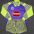 Trikot, Torwarttrikot inkl. Hose, Saison 1990/1991, Fortuna Düsseldorf, matchworn, Nr. 1, Jörg Schmadtke, Puma, Zamek