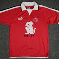 Heimtrikot, Trikot, Saison 2003/2004, Fortuna Düsseldorf, matchworn, Nr. 14, Julius Steegmann, Puma, Monkey´s