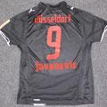 Trikot, Auswärtstrikot, Saison 2008/2009, Fortuna Düsseldorf, matchworn, Nr. 9, Ranisav Jovanovic, Puma, Stadtsparkasse Düsseldorf