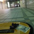 2014.5.3 地元福島市で路上ライブ。本日の報酬は野口先生と黒飴3ヶ。
