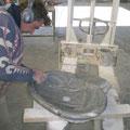 Cyril Rivals tailleur de pierre, vasque en pierre