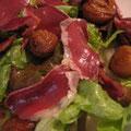 Salade au magret de canard fumé
