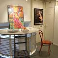 Die Begegnungsstühle in der Galerie Dorf-Träff in Opfikon