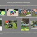 Ansichten der beiden Regenbockenhocker/-stühle in Heike Beiters Garten