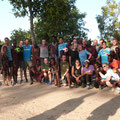 Masai from Lukwambe and university students from the USA sharing a fantastic day