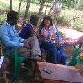 Visiting a Masai family