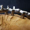 Armature usinée pour bridge transvissé en composite