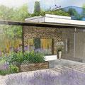 Conception d'un Pool House à Vaugines © Rc-Paysage