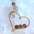 Rauchquarz, 4mm Perlen, facettiert auf 14K Goldfilled Draht, 40mm lang € 28