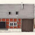 """Wohnhaus """"Scheune"""", Entwurfsskizze"""