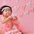 1歳の誕生日にスマッシュケーキなんかいかがですか?撮影内容はお気軽にご相談下さい。※大阪市内出張交通費無料です。