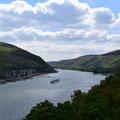 Blick von der Burg Rheinstein ins schöne Rheintal