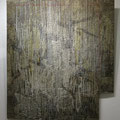 Impermanence / wax, acrylic, thread on wood 2013 / 120 x 102cm (apr. 4ft x 4ft)