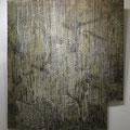 Impermanence / wax, acrylic, thread on wood 2013 / 120 x 102cm (apr. 4ft x 4ft)