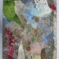 "MUSASHINO / paper, wire, wax on wood 2013 / 50 x 40cm(aprx. 20"" x 16"")"