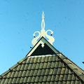 """""""Uilenborg"""" typique de la Frise : un couple de cygnes"""