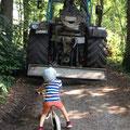 notwendige Waldarbeiten durch Sturmschaden