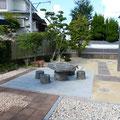 after:庭部分(既設の空間と一体となるようにバランスを考慮しました)