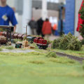 Nahgüterzug fährt vorbei am Anschluß Holzhandel
