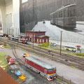 der Bahnhof Brunnthal mit seinen Gleisanlagen