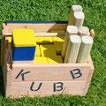 """Wikingerspiel, """"Kubb Schweden Original"""" Turniermaße, stabile Ausführung!"""