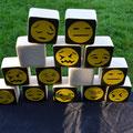 """""""Tre"""" Emoji-Smiley®"""" (Holzmemory, auch für draußen)"""