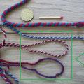 handgemachte Wollschnur, gedreht