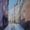 STOCKHOLM Bollhusgränd, Gamla Stan (2015), 30 cm x 40 cm *CHF 400*