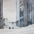 BOSTON Winter (2015), 30 cm x 20 cm, Nach einer Fotografie der Agentur Keystone // With kind permission of Keystone *CHF 280*