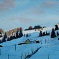 URNÄSCH (2015), 36 cm x 26 cm. Landschaft bei Urnäsch // Scenery near Urnäsch, Eastern Switzerland *CHF 280*