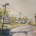 MILLERSBURGH Ohio USA (2015), 40 cm x 30 cm, Nach einer Szene aus GoogleEarth // Based on a scene found on GoogleEarth *CHF 280*