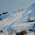 URNÄSCH (2015), 40 cm x 30 cm. Landschaft bei Urnäsch (Kt. Appenzell Ausserrhoden) // Sceney in Urnäsch, Eastern Switzerland *CHF 250*