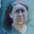 FRAU IN EREWAN Sowjetunion (2015), 30 cm x 40 cm. Nach einer eigenen Fotografie. // Based on a portrait, taken during a journey to the Sowjet Union in 1987
