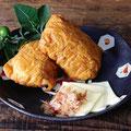 チーズ&おかかいなり  2ヶ¥200                       志乃多寿司