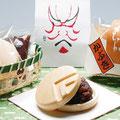 お手作り最中 「かぶき」  3個¥500                                        御菓子司  坂本屋