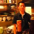若き料理人 﨑田昌史さん(※オーナーです.剣道部の中学生ではありません)