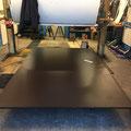 Die neue Bodenplatte ist nun auch da. Größe im Moment 1860 x 3000 x 21 mm  Stand 07.11.2018
