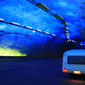 Der Leardaltunnelmit 24,4km und 28min Durchfahrt... Die blauen Haltebuchten gubt es drei mal im Tunnel... Genial!!!
